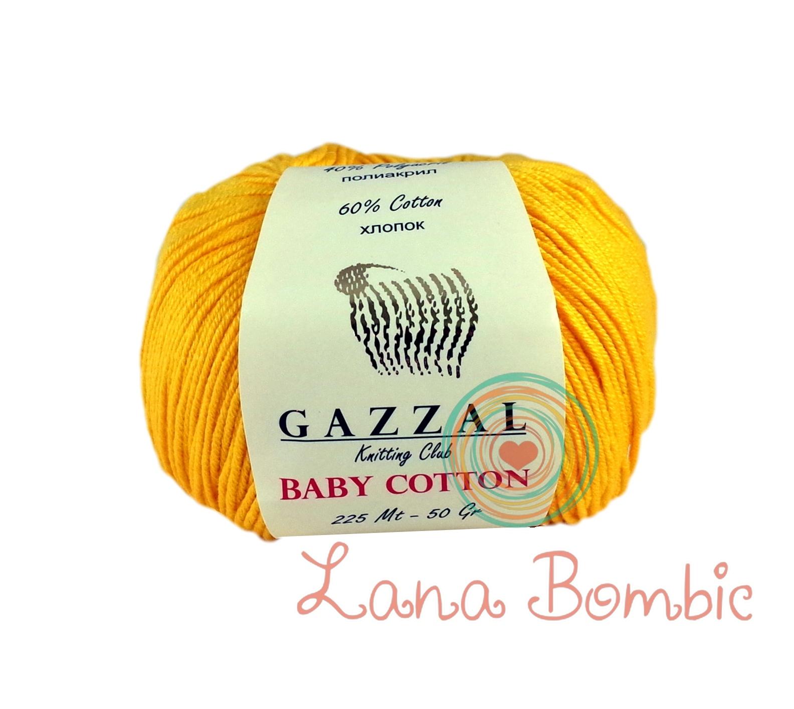 Пряжа Gazzal Baby Cotton 3417 желток