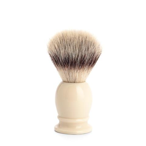 Помазок MUEHLE CLASSIC, фибра высшей категории Silvertip, смола, цвет слоновой кости, размер M 31 K