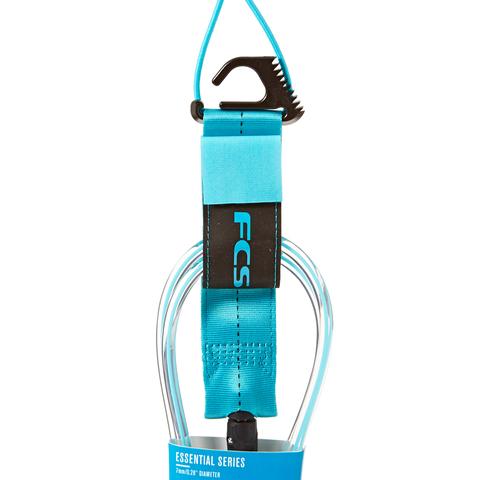FCS 6' Regular Essential Leash Blue