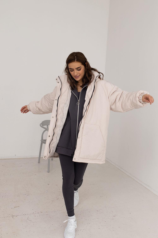 Куртка бойфренда цвета экрю