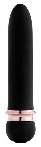 Черная вибропуля Satisfaction Powerful Bullet - 11,7 см.