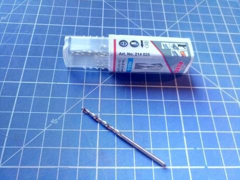 Сверло по металлу ц/x 2,5x57/30мм DIN338 h8 5xD HSS-G 118° Ruko 214025 (ВБ)
