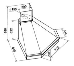 Вытяжка Kuppersberg ANABEL 65 WM O - схема