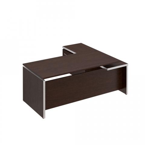 Стол руководителя с брифинг приставкой боковой левой (200x180x76)