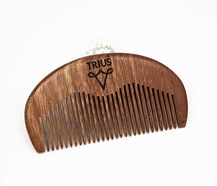 RAZ246-2 Расческа гребень для бороды TRIUS из дерева