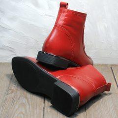 Осенние ботинки на небольшом каблуке женские красные Evromoda 1481547 S.A.-Red