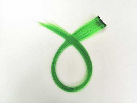 Пряди для волос, цвет зеленый. Длина 47см. (1416)