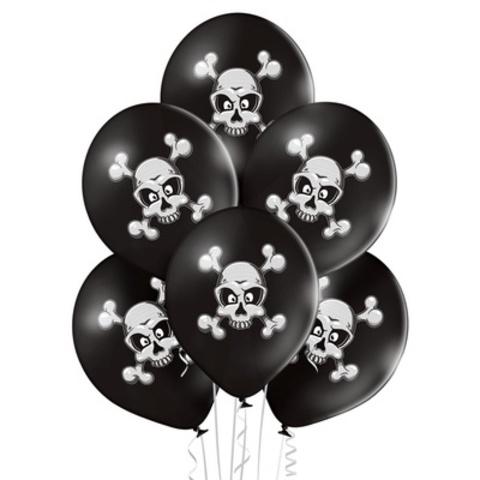 Воздушные шары Череп и Кости черный