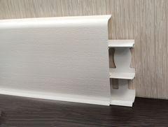 Плинтус Идеал Деконика 70мм 001 Белый матовый