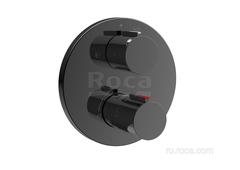 T-1000 Round Смеситель для ванны-душа термостатический скрытого монтажа (для установки с RocaBox A525869403), Titanium Black Roca 5A0C09CN0 фото