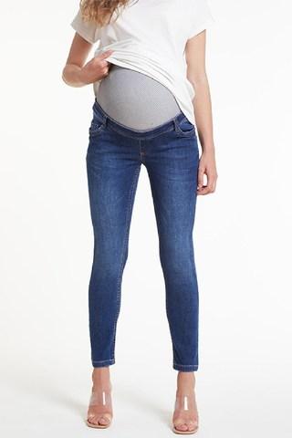 Джинсы для беременных (SKINNY) 10488 синий