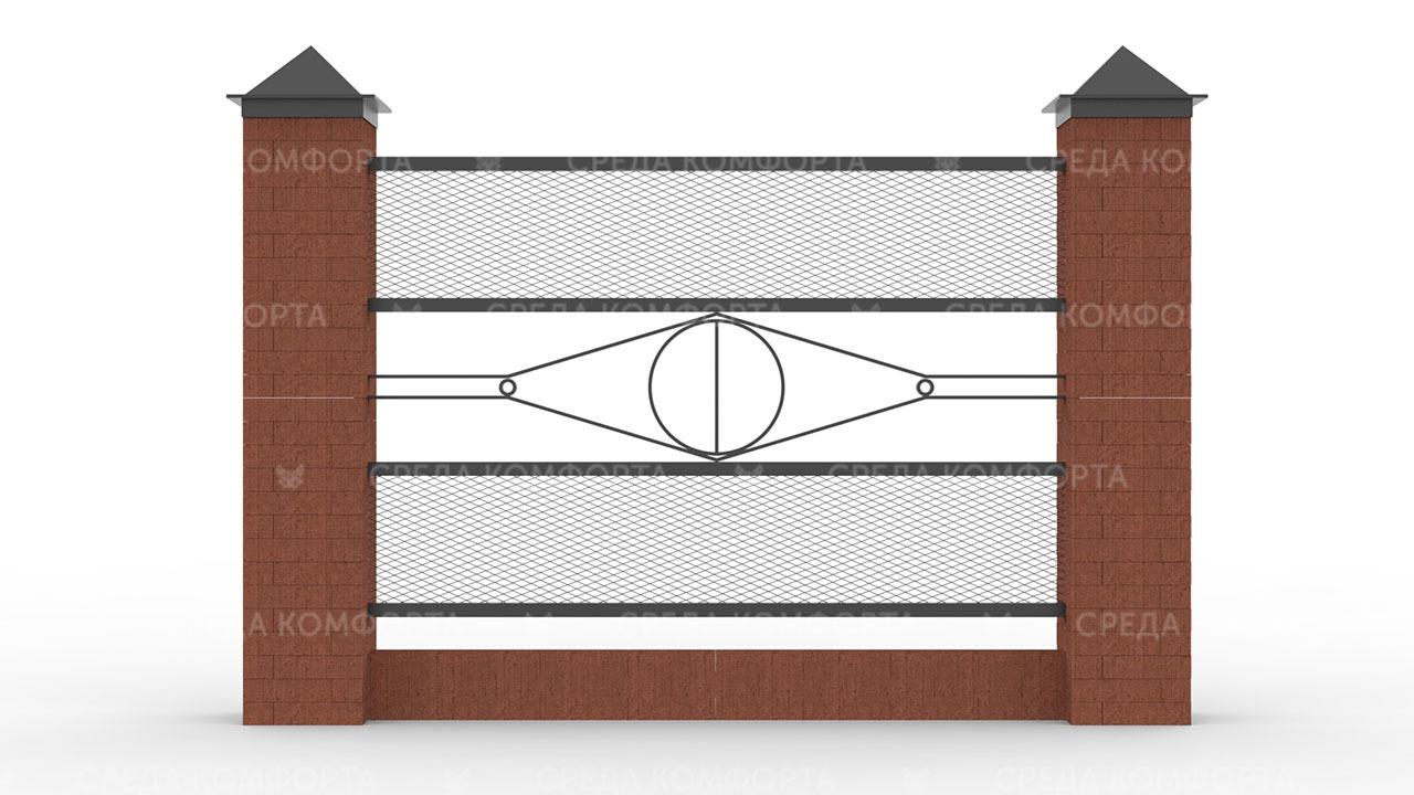 Забор из сетки рабицы 2500х2000 мм ZBR0176
