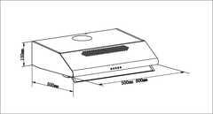 Вытяжка LEX Simple 500 Inox - схема
