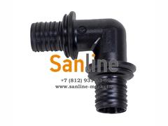 Угол Sanline 90гр 16мм (PPSU)