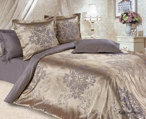 Жаккардовое постельное бельё 1,5 спальное, Карингтон
