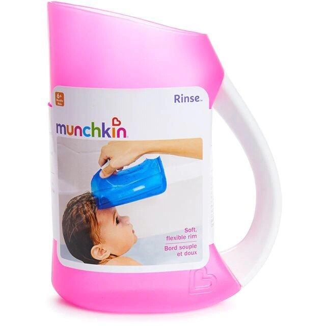 Munchkin мягкий кувшин розовый для мытья волос от 6 мес
