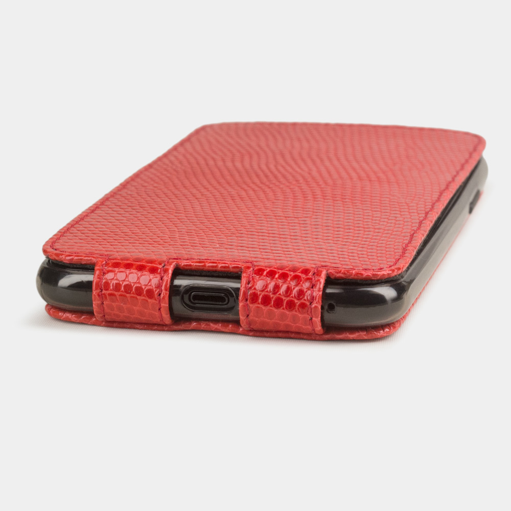Special order: Чехол для iPhone 11 Pro Max из натуральной кожи ящерицы, кораллового цвета