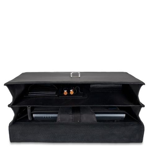 Портфель Piquadro кожаный черный