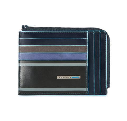 Чехол для кредитных карт Piquadro Blue Square, синий, 12,5x9x1 см