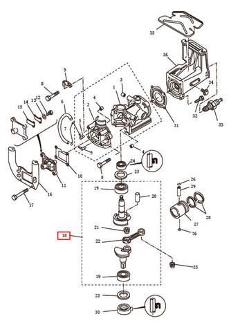 Коленвал в сборе   для лодочного мотора T2,5 SEA-PRO (2-18)