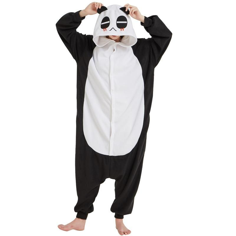 Плюшевые пижамы Kigurumi Панда взрослый guzel-kigurumi-siyah-yumusak-yetiskin-panda-onesies-hayvanli-pijama-unisex-erkekler-pijama-parti.jpg