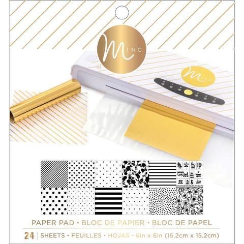 Набор бумаги 15х15 см. для фольгирования-  Heidi Swapp Minc Reactive Paper Pad -24 л. White