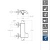 Смеситель термостатический для ванны с каскадным изливом и душевым комплектом URBAN CHIC 213901K1 - фото №2