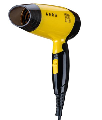 Фен дорожный Dewal Beauty Aero, 1400 Вт, 1 насадка, жёлтый