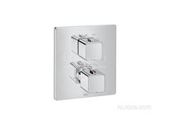 T-1000 Square Смеситель для ванны-душа термостатический скрытого монтажа (для установки с RocaBox A525869403) Roca 5A0C1AC00 фото