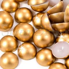 Купить оптом матовые полубусины, полужемчуг Gold Matte