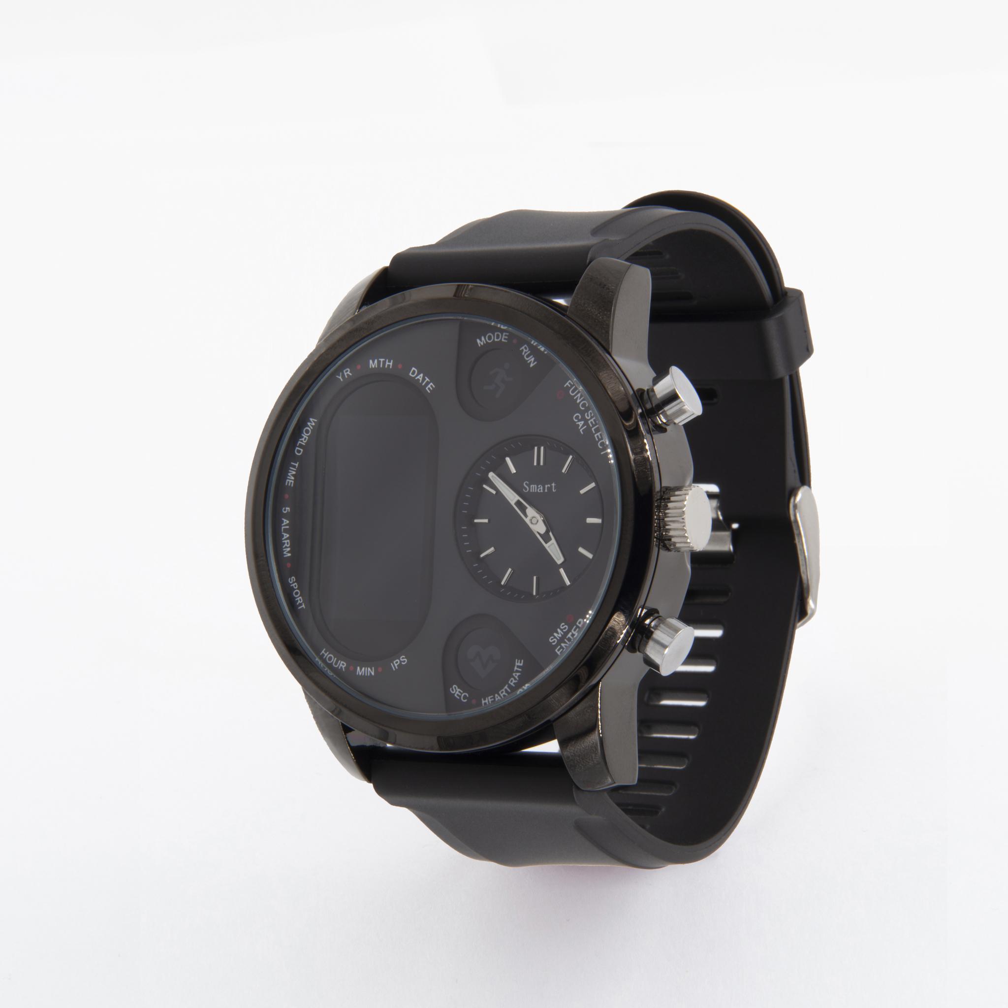 Имиджевые часы здоровья с механическими часами, оценкой давления, кислорода и автоматическим замером пульса Dr. Hofner DH99 (чёрный)