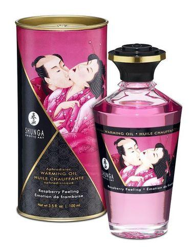 Массажное интимное масло с ароматом малины - 100 мл.