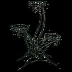 Подставка для цветов «ЛОТОС 3»  (черный)