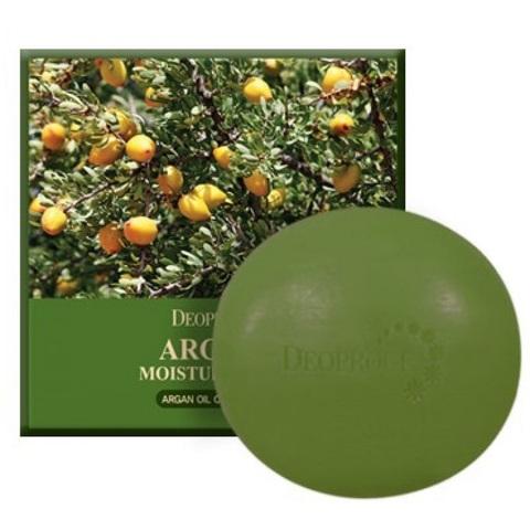 Deoproce Argan Moisture Soap увлажняющее мыло с аргановым маслом
