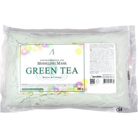 ANSKIN Маска альгинатная с экстрактом зеленого чая успокаив. (пакет) Green Tea Modeling / Refill 240 гр
