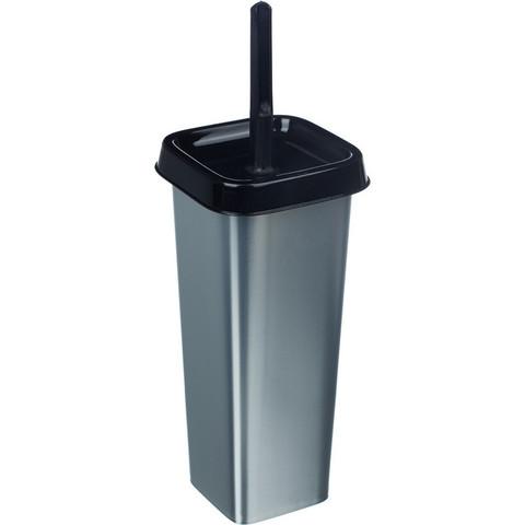 Ершик для унитаза Svip Квадра напольный с подставкой из пластика квадратный серебристый