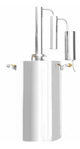 Дистиллятор домашний Уральский Самовар 16л,термометр,двойной сухопарник,охладитель