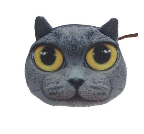 068-8140 Кошелек серый котик