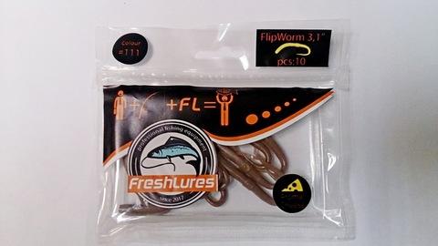 Силиконовая приманка FreshLures FlipWorm цвет 111, вкус сыра