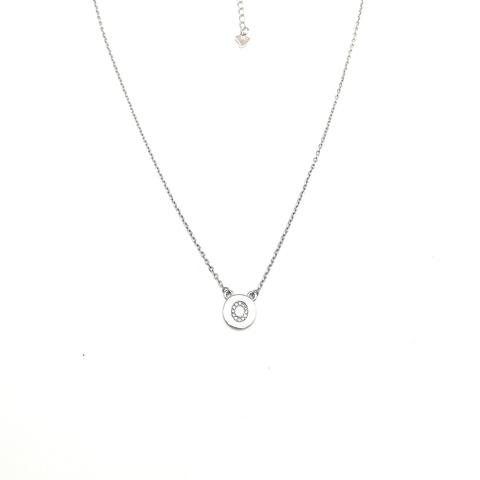 76504 - Колье из серебра с подвеской буква