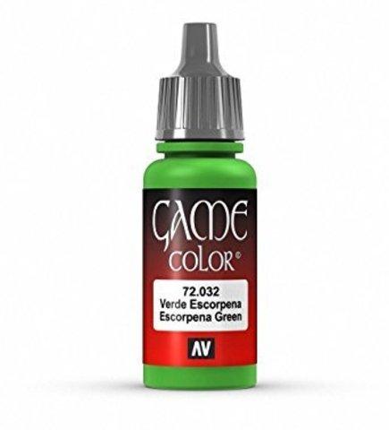 Game Color Escorpena Green 17 ml.