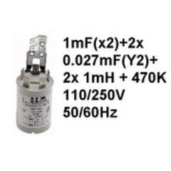 Фильтр радиопомех стиральной машины CANDY, ARDO 41038125, 41010141, 91212795, 91200489, 532004100,41038125, 532003700