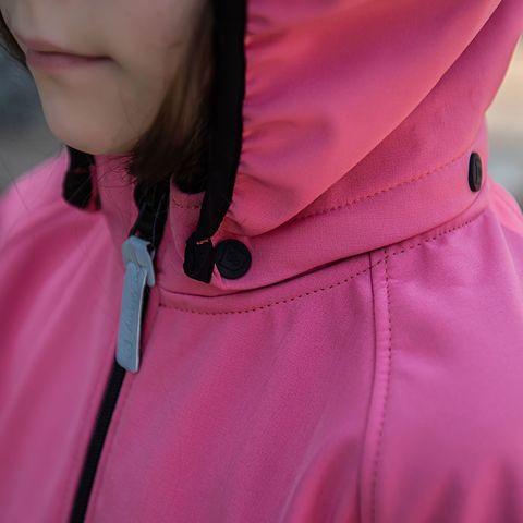 Softshell demi-season jacket for teens - Coral