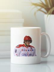 Кружка с рисунком  НХЛ Вашингтон Кэпиталз (NHL Washington Capitals) белая 006