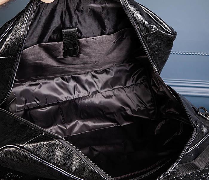 BAG521-1 Кожаная дорожная сумка с ручками и ремнем фото 10