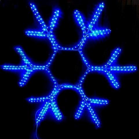 Снежинка светодиодная d-40 см. Синяя