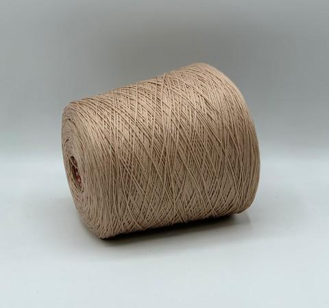 Бобинная пряжа (пр.Италия), 340м/100гр. 55%кашемир 45%металлизированное волокно, цвет-Бежевая пудра, арт.8920