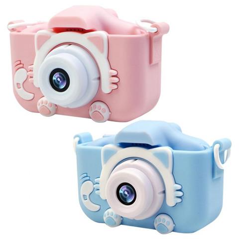 Детский цифровой фотоаппарат  Fun Camera Kitty со встроенной памятью и играми (Голубой)