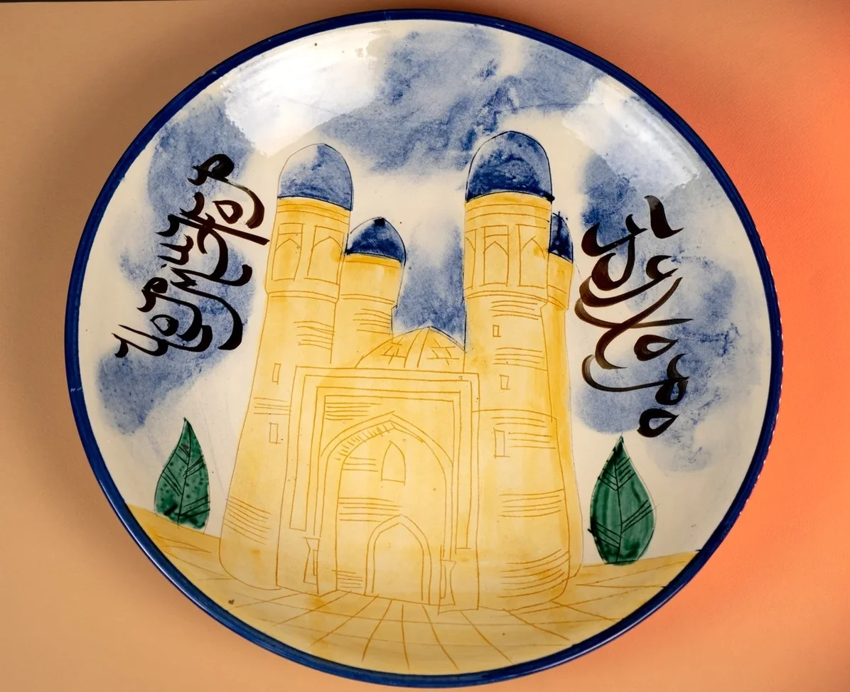 Посуда Ляган ручная роспись крепость 42 см Ckccz8AcBJ0.jpg