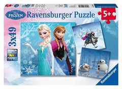Puzzle DFZ: Winter Adventures 3x49 pcs